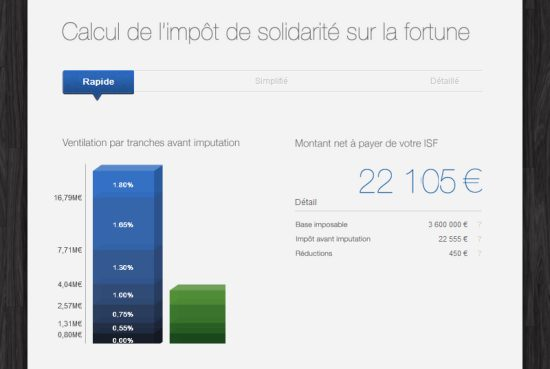 Calculer son ISF